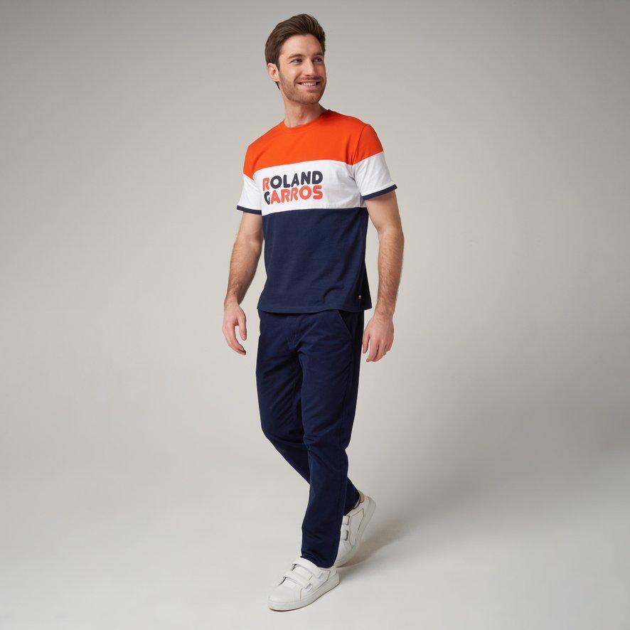 pour Homme Marine Mod/èle NIKO Taille XS Homme en Coton ROLAND GARROS NIKO T-Shirt col Rond