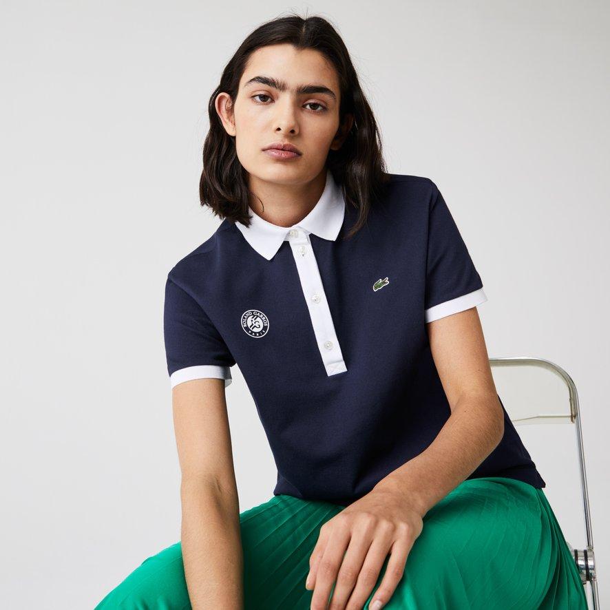 Lacoste x Roland-Garros woman polo - Navy blue   Roland-Garros Store